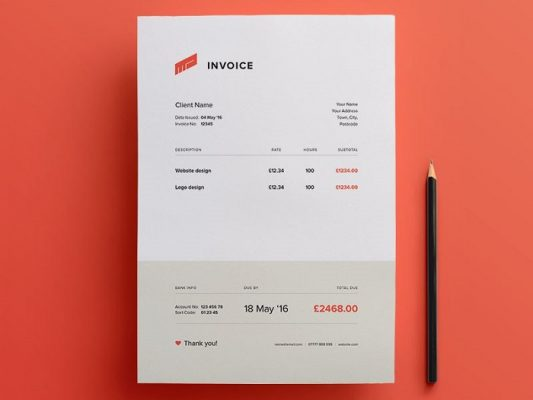 Template Invoice from www.paper.id