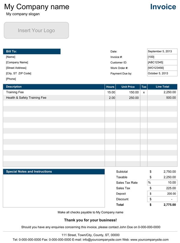 Contoh Invoice Jasa Yang Sederhana Lengkap Dengan Formatnya