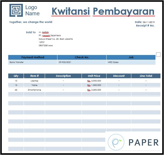 Perbedaan Kwitansi Dan Invoice Beserta Dengan Contohnya