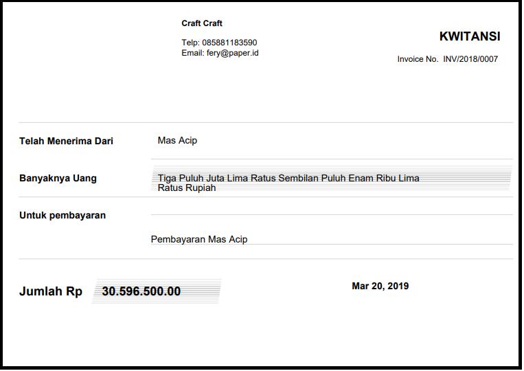 Soal Format Kwitansi Pembayaran dan Cara Membuatnya
