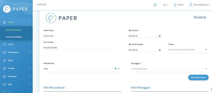 Dokumen Nota Penjualan