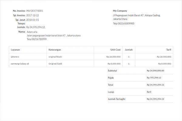7 Sales Invoice Template You Can Use For Free Paper Id Blog