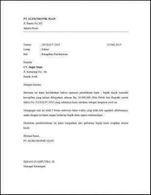 Contoh Surat Tagihan Pembayaran Dan Penjelasannya Paperid