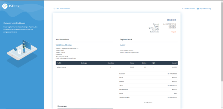 Contoh Surat Tagihan Invoice Dan Penjelasannya Paperid Blog