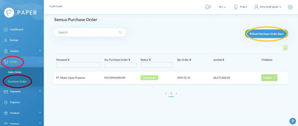 Cara Membuat Purchase Order Di Aplikasi Kirim Via Whatsapp