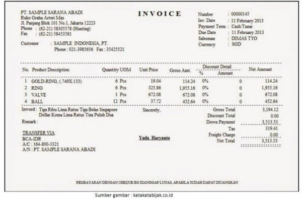Contoh Surat Penagihan Invoice Untuk Pelanggan Paperid Blog