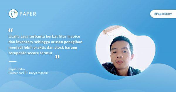 Paper Story: Kisah Bisnis PT. Karya Mandiri, Jual Barang Konstruksi Online