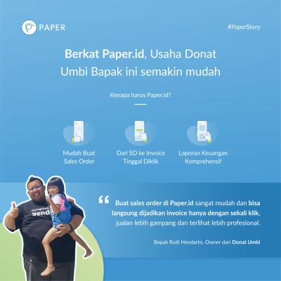 Paper Story, Melihat Nikmatnya Usaha Donat Umbi